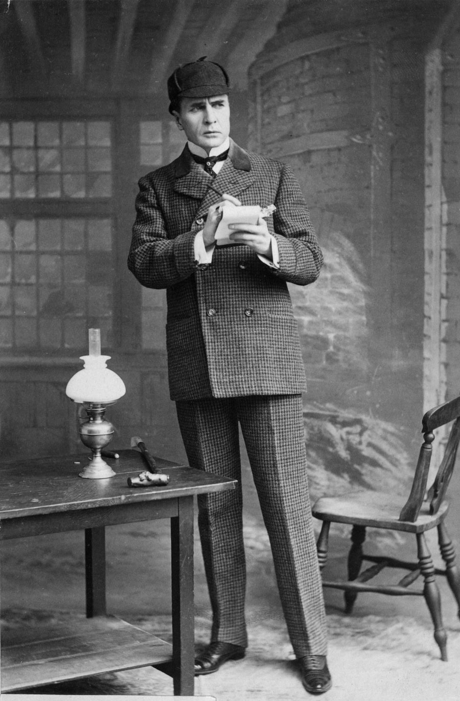 William Gillette Actor William Gillette playing the detective Sherlock