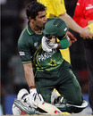 Umar Akmal kisses his helmet after Pakistan's win, Australia v Pakistan, Group A, World Cup 2011, Colombo, March 19, 2011