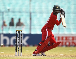 Tatenda Taibu plays the ball behind point, Kenya v Zimbabwe, Group A, World Cup 2011, Kolkata, March 20, 2011