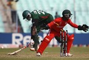 Collins Obuya is run out, Kenya v Zimbabwe, Group A, World Cup 2011, Kolkata, March 20, 2011