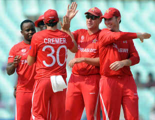 Zimbabwe's bowlers backed up their batsmen with an all-round performance, Kenya v Zimbabwe, Group A, World Cup 2011, Kolkata, March 20, 2011