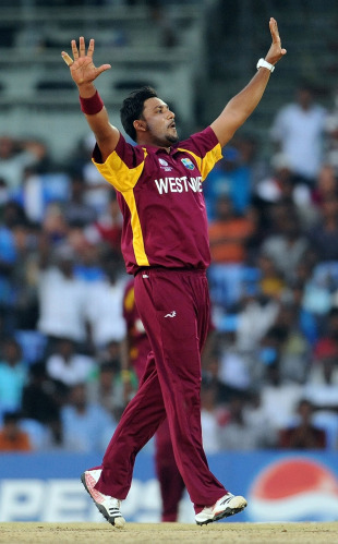 Ravi Rampaul completes his five-wicket haul, India v West Indies, Group B, World Cup 2011, March 20, 2011