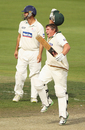 Mark Cosgrove celebrates hitting the winning runs against New South Wales, Tasmania v New South Wales, Sheffield Shield final, Hobart, March 21, 2011