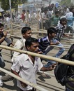 Fans rush to buy tickets for the India-Australia quarter-final at the Sardar Patel stadium, Ahmedabad, March 21, 2010