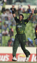 Shahid Afridi trapped Devon Thomas lbw for a golden duck