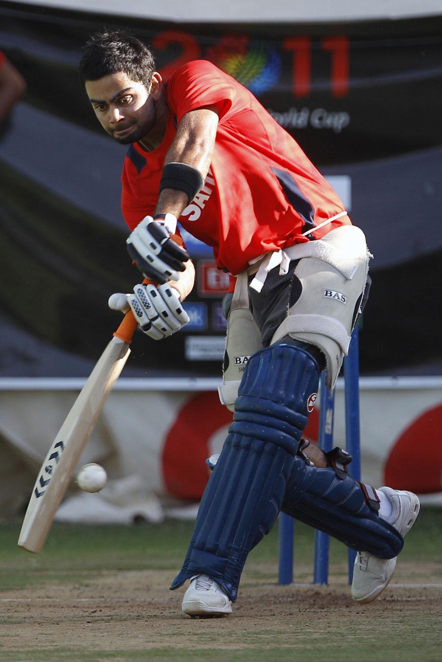 Virat Kohli hones his skills during practice