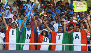 Indian fans wear their support, India v Australia, 2nd quarter-final, Ahmedabad, World Cup 2011, March 24, 2011