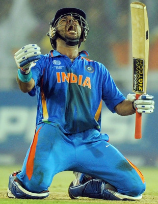 Sizzling Yuvraj Sparkles In Famous Win Cricket Features Icc Cricket World Cup 2011 Espncricinfo Com