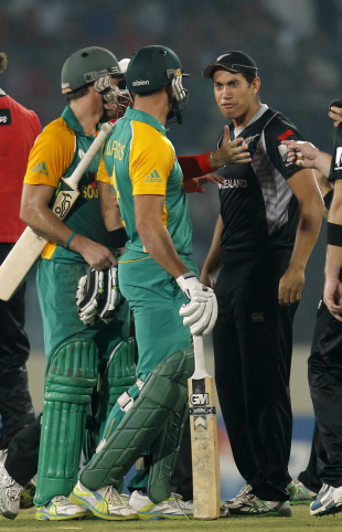 Tempers flared as wickets fell, New Zealand v South Africa, 3rd quarter-final, Mirpur, World Cup 2011, March 25, 2011