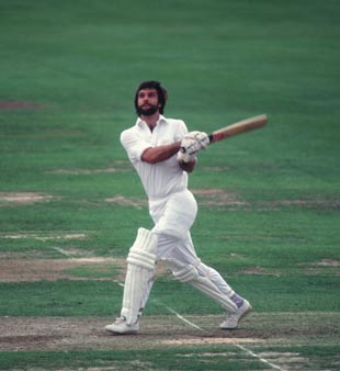 Peter Willey bats in the B&H final, Essex v Northamptonshire, Lords, July 1980