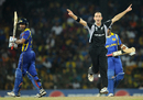 When Andy McKay removed Kumar Sangakkara for 54, New Zealand were back in the game, Sri Lanka v New Zealand, 1st semi-final, World Cup 2011, Colombo, March 29, 2011