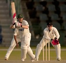 Ali Brown helped give the Nottinghamshire score respectability, MCC v Nottinghamshire, 3rd day, Abu Dhabi, March 29, 2011