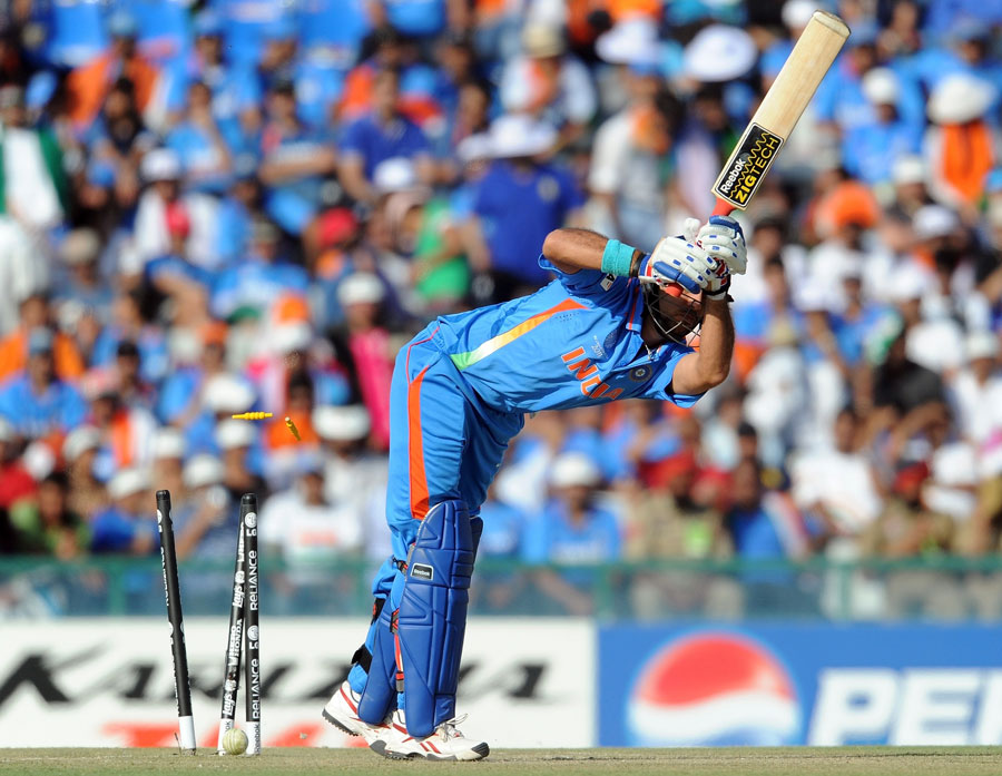 Yuvraj Singh's first ball wasn't the easiest to face first up
