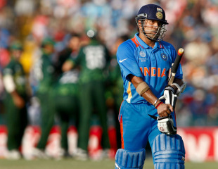 Sachin tendulkar walking out