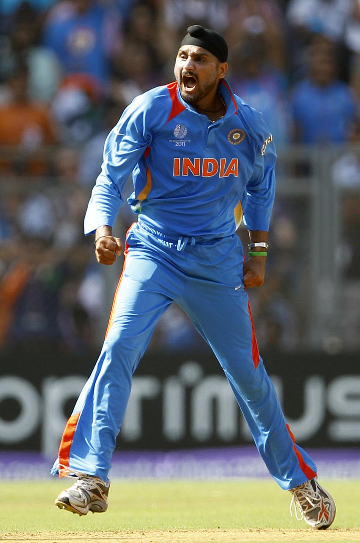 Harbhajan Singh was pumped after bowling Tillakaratne Dilshan
