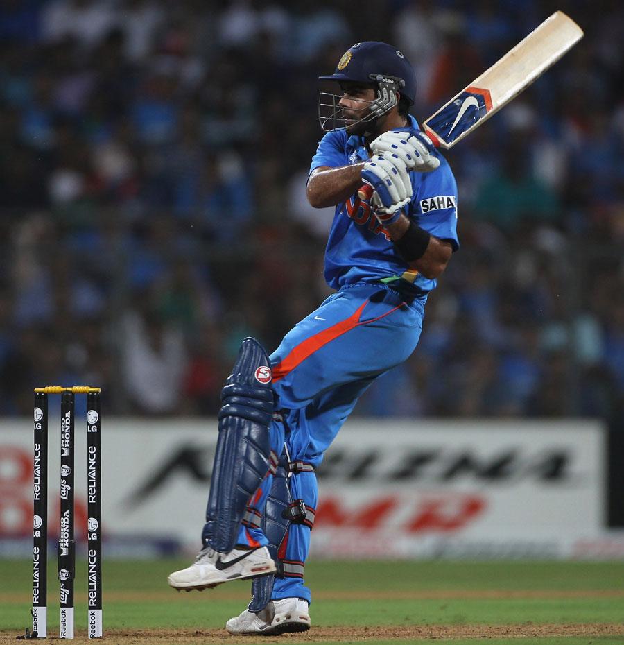 Virat Kohli scores through the leg side