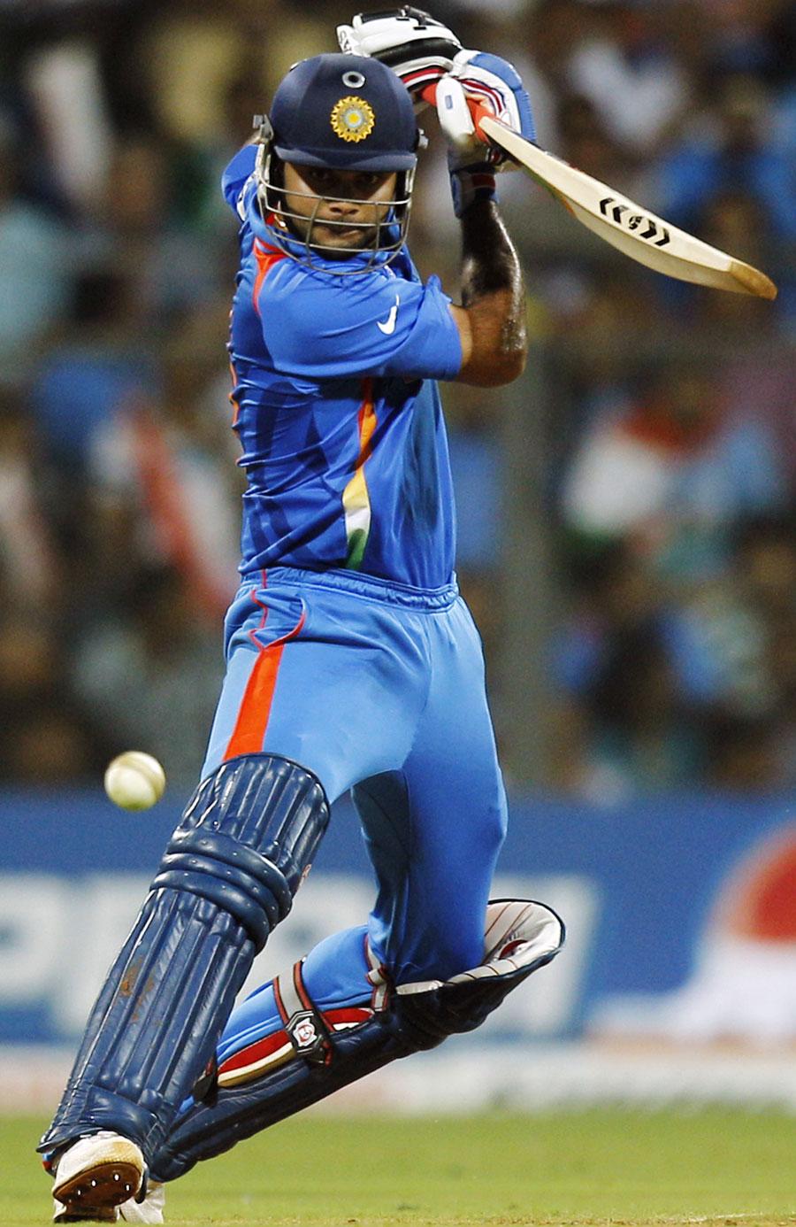 Virat Kohli guides one through point