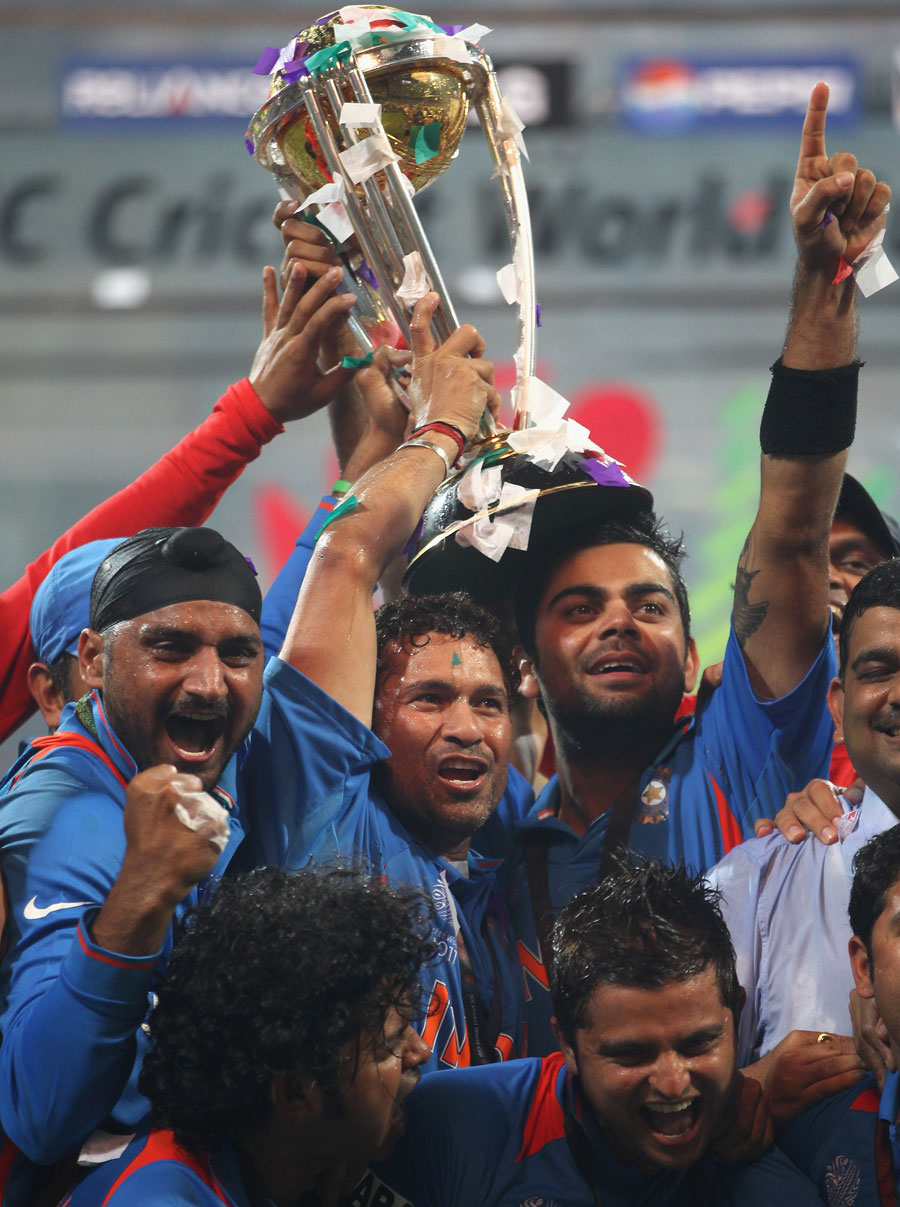 In his sixth attempt, Sachin Tendulkar gets his hands on a World Cup