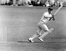 Martin Horton batting in the tour opener, Worcestershire v New Zealanders, Worcester, April 30, 1958