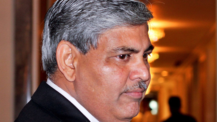 BCCI president Shashank Manohar arrives for the ICC board meeting