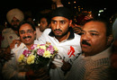 Harbhajan Singh is received at his home town Jalandhar