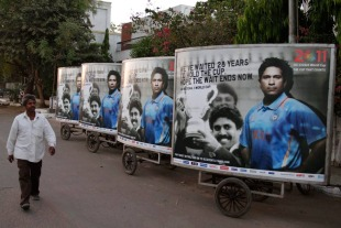 Blanket coverage: nowhere in India can you escape ads featuring Tendulkar