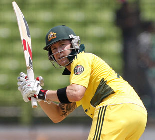 Michael Clarke scored 55 in Australia's warm-up match, BCB XI v Australia, April 7, 2011