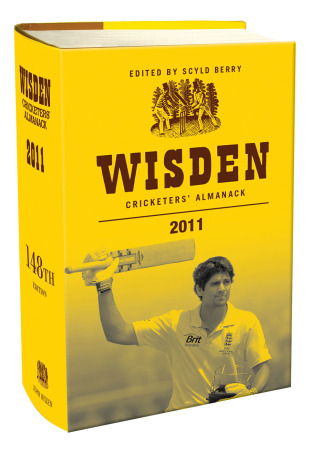 Alastair Cook adorns the cover of the 2011 Wisden Cricketers' Almanack