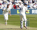 David Masters removed the key wicket of Martin van Jaarsveld, Essex v Kent, County Championship, Division Two, Chelmsford, April 8, 2011