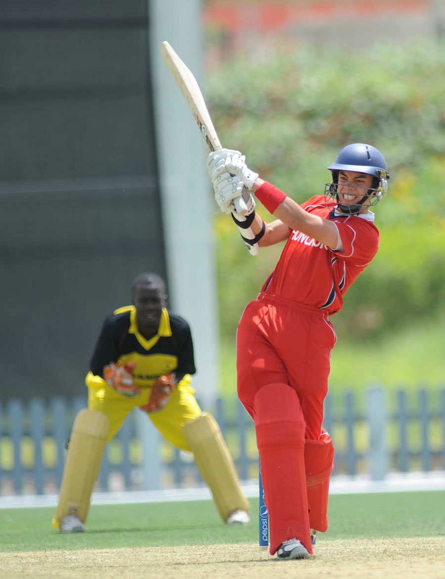 Hong Kong's Mark Chapman launches the ball during his unbeaten 70
