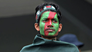 Bangladesh lost wickets at key intervals much to the disappointment of their fans