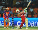 AB de Villiers clobbers the ball over long-off, Kochi Tuskers Kerala v Royal Challengers Bangalore, IPL 2011, Kochi, April 9, 2011