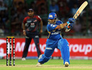 Sachin Tendulkar picks a gap on the off side during his unbeaten knock of 46, Delhi Daredevils v Mumbai Indians, IPL 2011, Kochi, April 10, 2011