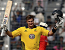 Shane Watson celebrates after reaching his sixth ODI century, Bangladesh v Australia, 2nd ODI, Mirpur, April 11, 2011