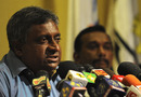 Duleep Mendis addresses the press after assuming the role of Sri Lanka's chief selector, Colombo, April 11, 2011