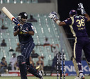 Ishank Jaggi is bowled by Iqbal Abdulla, Kolkata Knight Riders v Deccan Chargers, IPL 2011, Kolkata, April 11, 2011