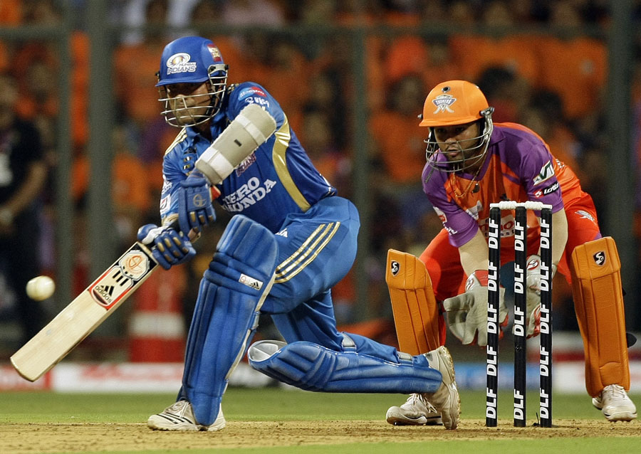 Sachin Tendulkar plays a lap shot over the leg side