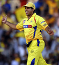 S Anirudha celebrates taking a catch to dismiss Tillakaratne Dilshan, Chennai Super Kings v Royal Challengers Bangalore, IPL 2011, Chennai,  April 16, 2011
