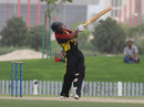 Vani Morea pulls a ball for six during his unbeaten 74 against Hong Kong in the 3rd/4th Play-off match at the ICC WCL2 in Dubai