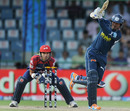 Kumar Sangakkara drives through midwicket