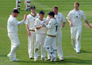 James Anyon falls to Mitchell Claydon, as Sussex collapse against Durham