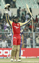 Chris Gayle celebrates his maiden IPL ton