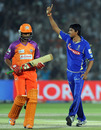 Siddharth Trivedi celebrates the wicket of Raiphi Gomez, Rajasthan Royals v Kochi Tuskers Kerala, IPL 2011, Jaipur, April 24, 2011