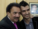 Zulqarnain Haider and Pakistani Interior Minister Rehman Malik are all smiles