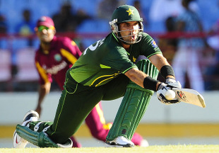 Misbah-ul-Haq provided the finishing touches with a run-a-ball 43, West Indies v Pakistan, 2nd ODI, Gros Islet, April 25, 2011