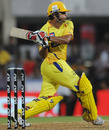 Suresh Raina gets on top of a short delivery, Pune Warriors v Chennai Super Kings, IPL 2011, DY Patil Stadium, Navi Mumbai, April 27, 2011