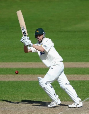 Adam Voges steadied Nottinghamshire with 61, Nottinghamshire v Worcestershire, County Championship, Division One, Trent Bridge, April 27, 2011