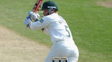 Alexei Kervezee scored a fighting century to keep Worcestershire in the match at Trent Bridge
