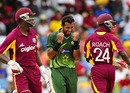Wahab Riaz struck twice in three balls during West Indies' collapse