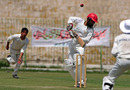 Afghanistan Under-19 captain Mir Wais avoids a short ball, Peshawar, April 29, 2011